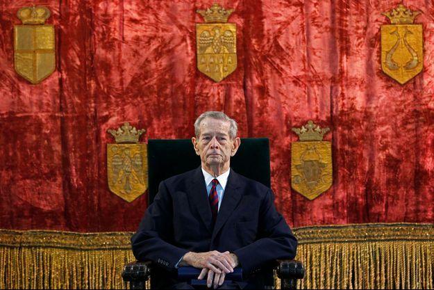 L'ex-roi Michel de Roumanie à Bucarest, le 25 octobre 2012