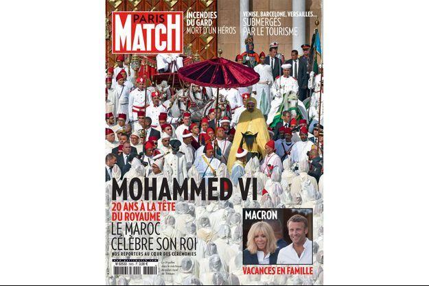 En couverture de Paris Match n°3665, le roi du Maroc, Mohammed VI.