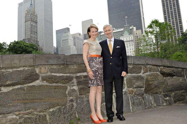 Mission économique aux Etats-Unis en juin 2011 : balade informelle du couple princier à Central Park.