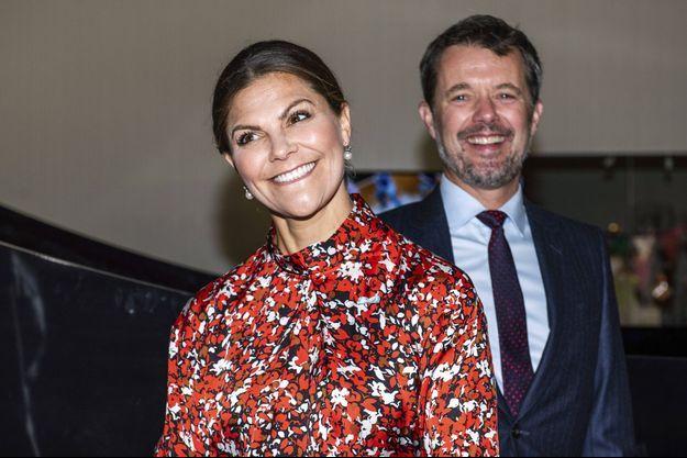La princesse héritière Victoria de Suède et le prince Frederik de Danemark à Copenhague, le 17 septembre 2019