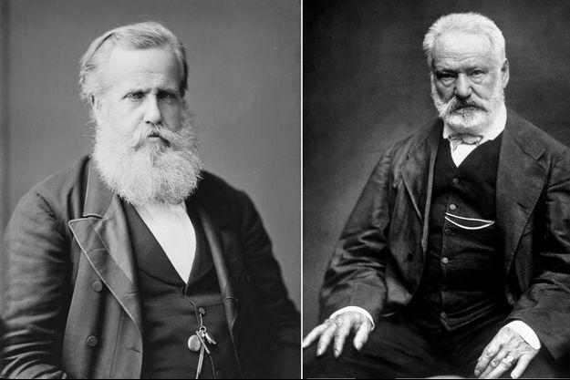 L'empereur Pedro II du Brésil et Victor Hugo, en 1876