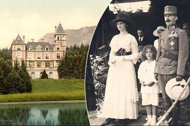 Le château Wartholz fut la villégiature estivale de l'empereur d'Autriche Charles Ier et de l'impératrice Zita, en photos à droite en 1918 avec leur fille Adélaïde