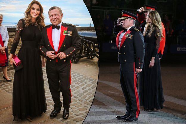 La reine Rania et le roi Abdallah II de Jordanie à Edimbourg, le 5 août 2016