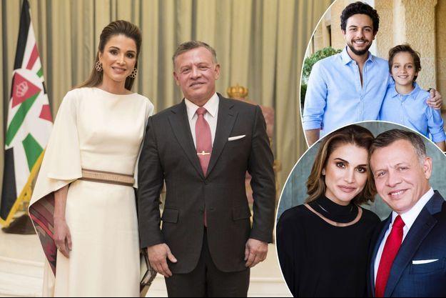 La reine Rania et le roi Abdallah II de Jordanie le 28 mai 2017 - En vignettes : les princes Hussein et Hashem - la reine Rania et le roi Abdallah II