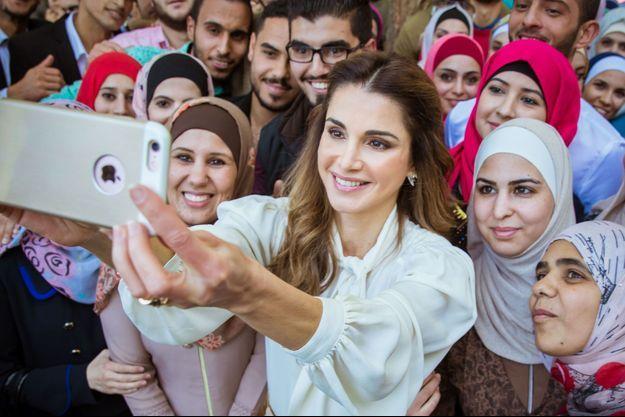 La reine Rania de Jordanie à Amman, le 19 octobre 2016