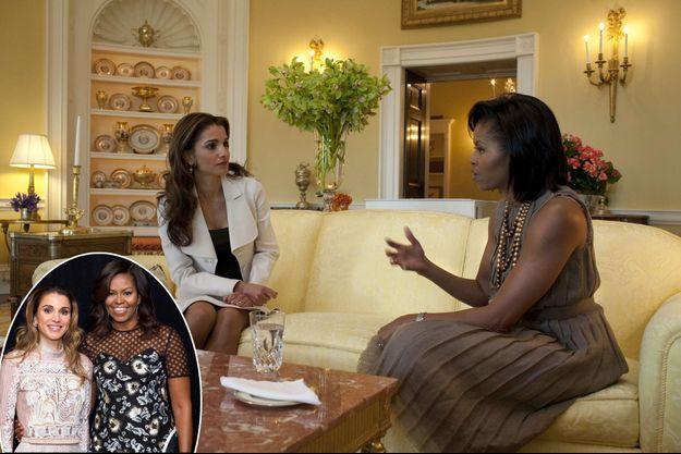 La reine Rania de Jordanie et Michelle Obama