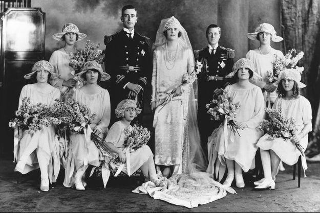Lord Louis Mountbatten lors de son mariage avec Edwina Ashley.