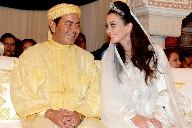 Le prince Moulay Rachid du Maroc et sa jeune épouse Lalla Oum Keltoum, le 14 novembre 2014