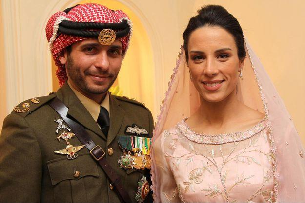 Le prince Hamzah de Jordanie et Basma Bani Ahmad Al-Atoum le jour de leur mariage, 12 janvier 2012