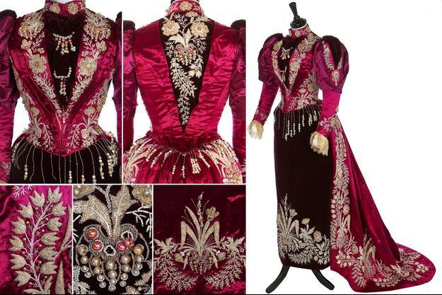 La robe de cour de la princesse Ramisindrazana de Madagascar vendue aux enchères à Londres le 11 décembre 2020 par Kerry Taylor Auctions