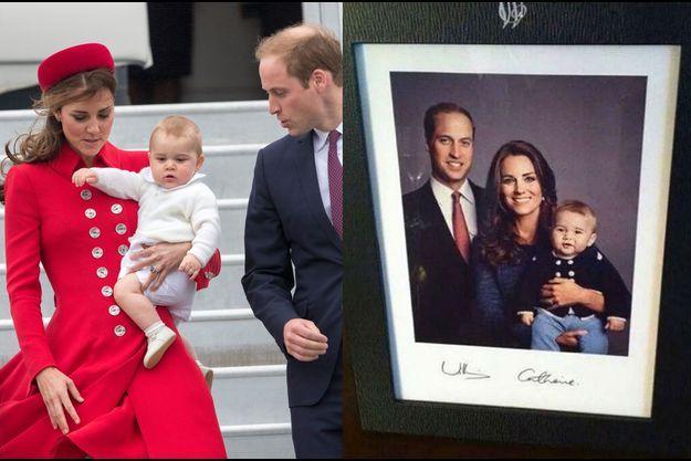 Kate, Baby George et le prince William en voyage en Nouvelle-Zélande et sur la photo diffusée sur Twitter