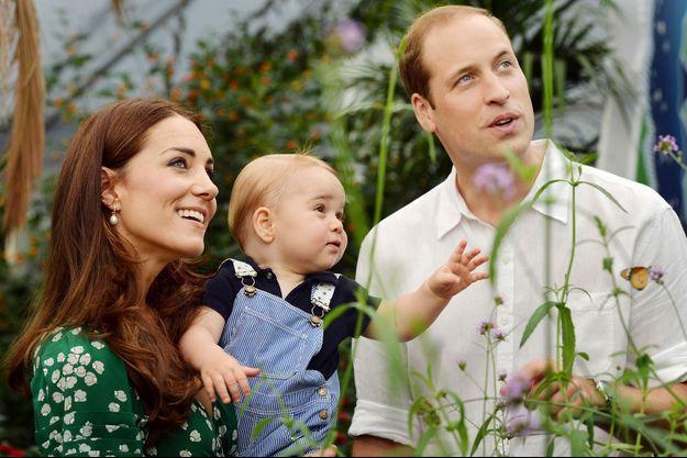 Baby George et ses parents, le prince William et Kate, le 2 juillet 2014