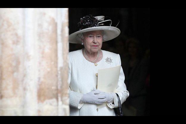 Elizabeth II à l'abbaye de Westminster, en novembre 2011