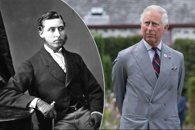 Le prince Albert Edward (futur roi Edward VII) entre 1860 et 1865 - Le prince Charles le 14 juillet 2017