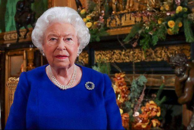La reine Elizabeth II lors de son discours de Noël depuis le château de Windsor, en décembre 2019