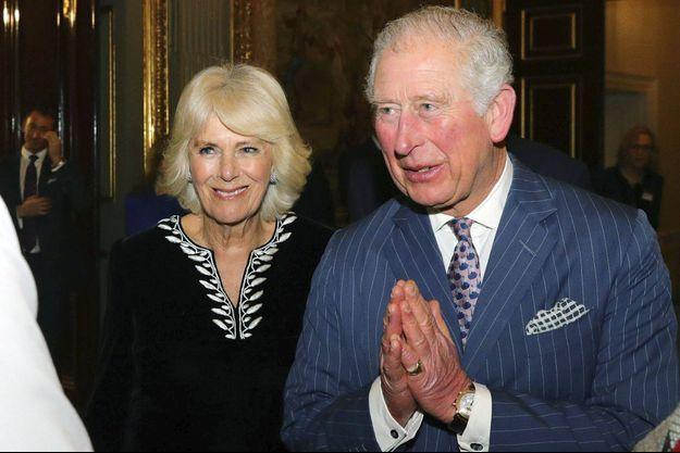 Le prince Charles et sa femme la duchesse de Cornouailles Camilla, à Londres le 9 mars 2020