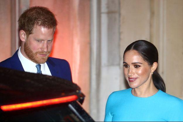 Meghan Markle et le prince Harry à Londres en mars 2020.