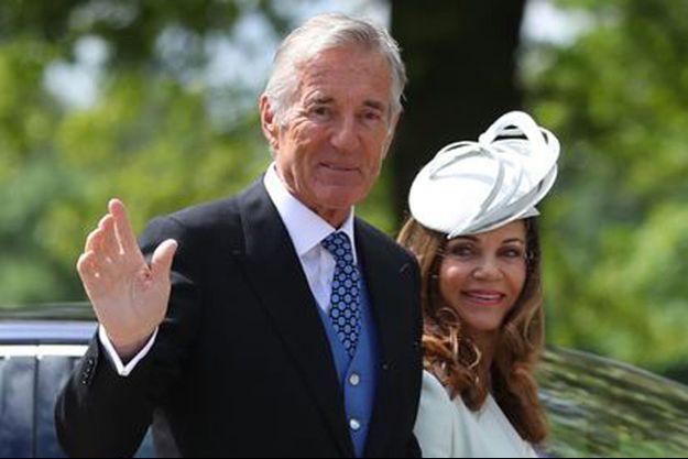 David Matthews, au mariage de Pippa Middleton et de son fils James, en mai 2017.