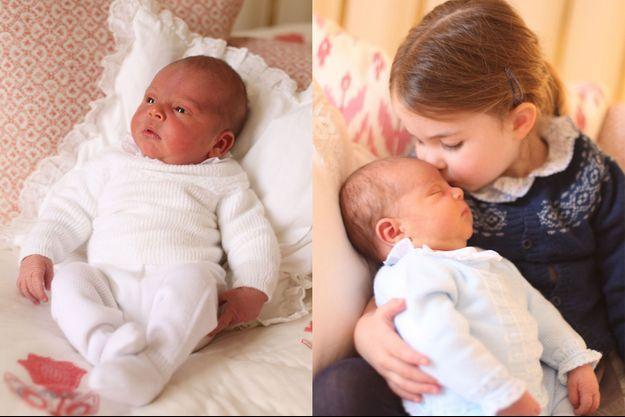 Le prince Louis dans les bras de sa soeur Charlotte, le jour de l'anniversaire de celle-ci.