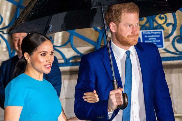 Harry et Meghan en mars 2020.