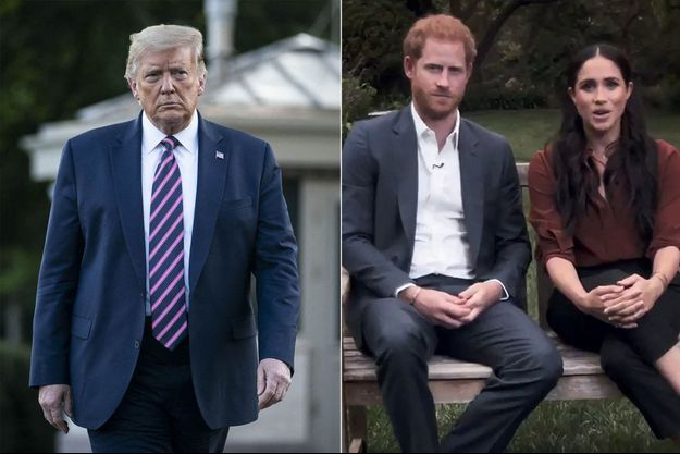Donald Trump, le prince Harry et Meghan Markle