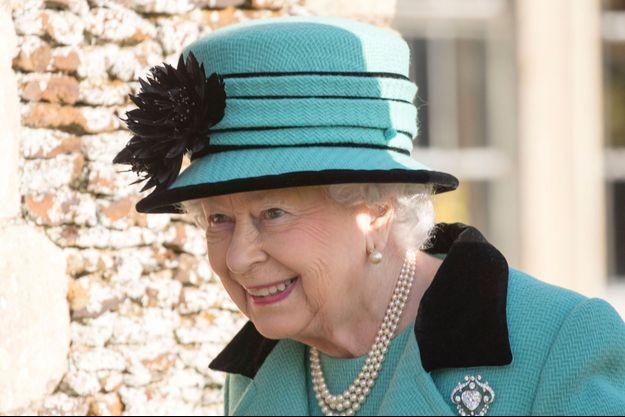 La reine Elizabeth II à West Newton, le 5 février 2017