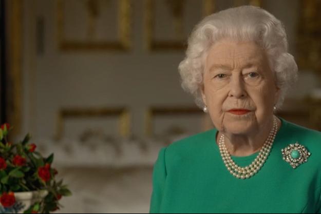 La reine Elizabeth II lors de son allocution du 5 avril.