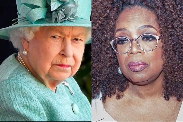 Elizabeth II et Oprah Winfrey (montage)