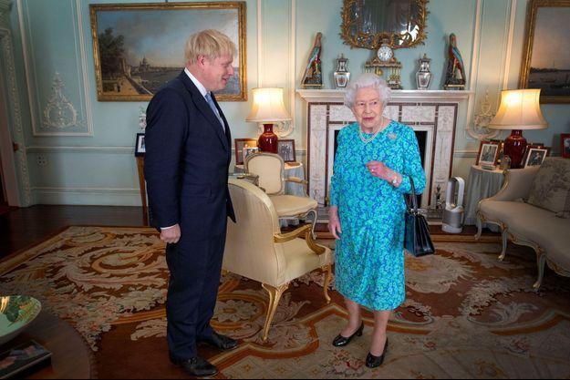 Boris Johnson et Elizabeth II