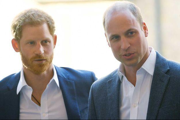 Harry et William en avril 2018, à Londres.