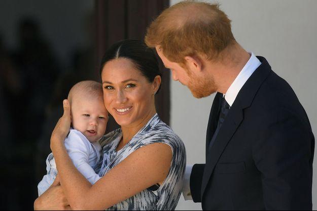 Meghan et Harry avec leur petit Archie en Afrique du Sud en septembre 2019