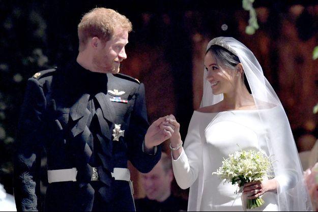 Le prince Harry et Meghan Markle, le jour de leur mariage, le 19 mai 2018