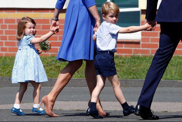 La princesse Charlotte et le prince George de Cambridge à Berlin, le 19 juillet 2017