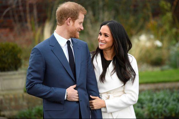 Le prince Harry et sa fiancé Meghan Markle à Londres, le 27 novembre 2017
