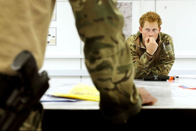 Harry, en Afghanistan lors de sa seconde mission en octobre 2012.