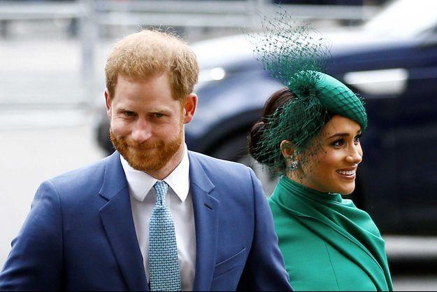 Le prince Harry et son épouse Meghan, à Londres, le 29 mars.