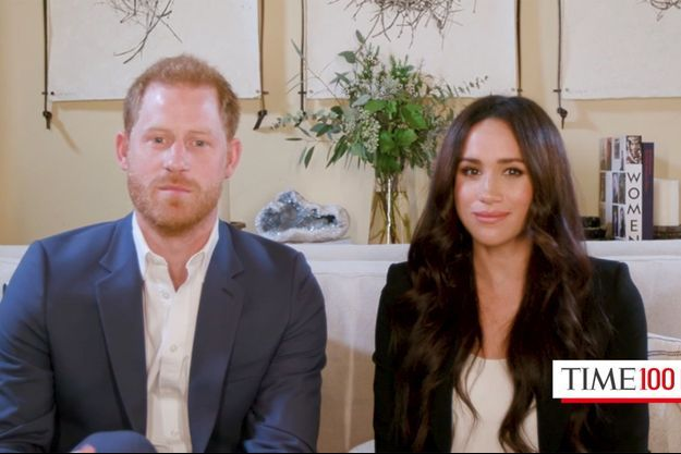 """Harry et Meghan de Sussex en conversation pour le magazine """"Time"""" le 20 octobre 2020"""