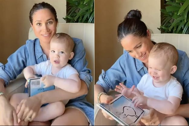 Meghan et son fils Archie sur une vidéo publiée le 6 mai 2020 pour le premier anniversaire du petit garçon