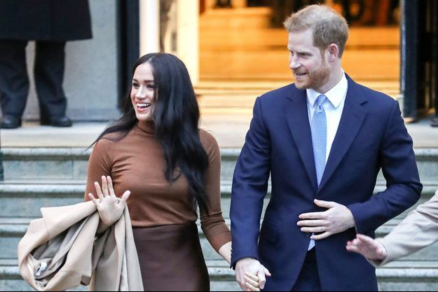 Meghan et Harry à Londres en janvier 2020.