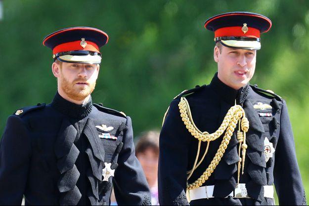 Harry et William le jour du mariage des Sussex en mai 2018
