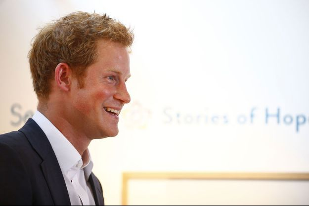 Harry, jeudi, lors d'une exposition organisée par son association.