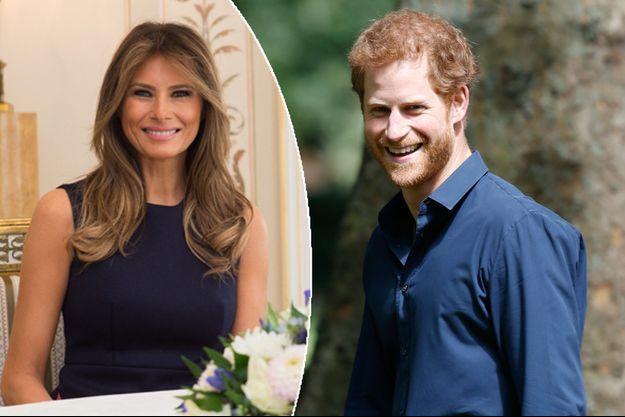 Melania Trump le 6 juillet 2017 - Le prince Harry le 28 juillet 2017