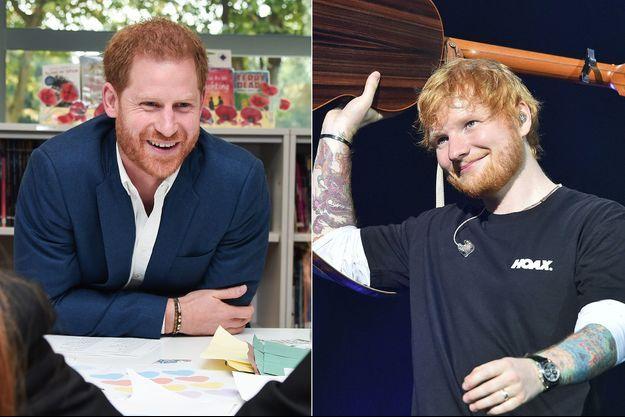Le prince Harry et Ed Sheeran
