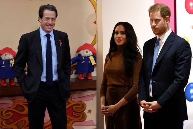 Hugh Grant, Meghan Markle, et le prince Harry.