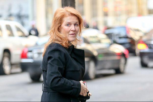 Sarah Ferguson à New York, le 16 janvier 2015