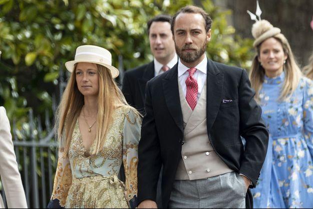 Alizée Thevenet et James Middleton au mariage de Lady Gabriella Windsor et Thomas Kingston à Windsor le 18 mai 2019