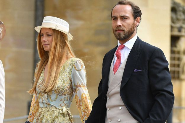 Alizée Thevenet et James Middleton au mariage de Gabriella Windsor et Thomas Kingston, en mai 2019.