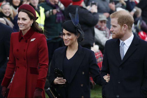Kate, Meghan et Harry en décembre 2018