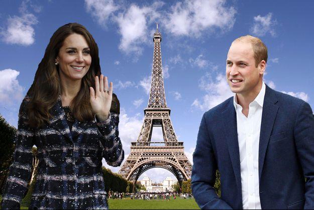 Kate et William à Paris (Photomontage)