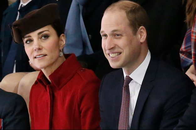 Le prince William et la duchesse Catherine de Cambridge à Anglesey, le 18 février 2016